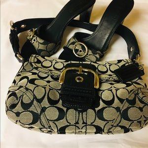 COACH Jacquard Handbag Hobo Purse.